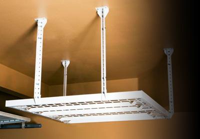 Diy metal overhead storage racks by slide lok of san diego garage overhead storage solutioingenieria Image collections